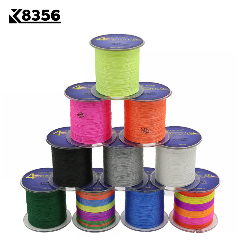 K8356 300M 328Yards 4 Stands PE Line Braided Fishing Line 100% PE Multifilament Fishing Line Super Strong High Quality 8LB 150LB