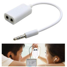 1PC Universal3.5mm Audio Cable White Double Earphone With Y Splitter Cable Cord Adapter Jack Plug Easy To Carry Around(China)