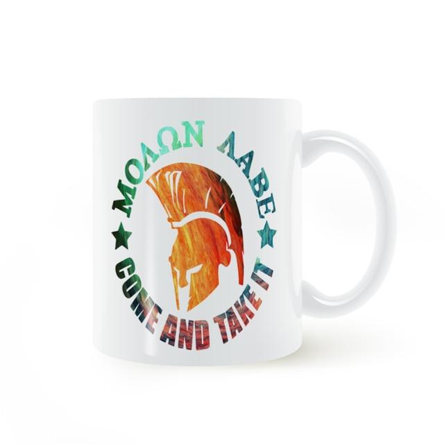 Spartan Helmet Come and Take It Mug Coffee Milk Ceramic Cup Creative DIY Gifts Home Decor Mugs 11oz T588