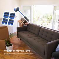 5 pçs/set fácil móveis levantador mover conjunto de ferramentas móveis pesados mover transporte elevador slides móveis trole ferramenta de levantamento|Conjuntos ferramenta manual| |  -