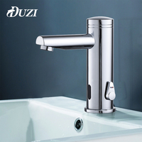 DUZI Sensor Faucet Automatic Inflrared Sensor Hand Touch Tap Hot and Cold Mixer Sink Tap,Bathroom Basin Bathroom Tap,Chrome D210