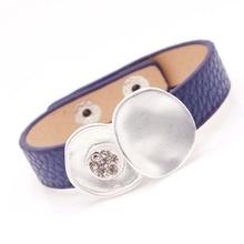 D&D Fashion Punk Crystal Leather Bracelets & Bangles For Women Wristband Charm Cuff Bracelets mpb karolina fashion brand charm bracelets for women crystal