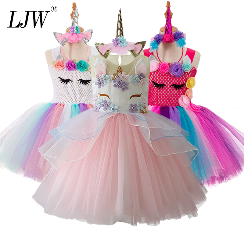 unicorn Kids Toddler Princess Dress For Girl Summer Vest Girls Dress Children Lace hollow Dot Fashion Girl Dress 2-10 Years melario girls dress 2018 summer children clothes splicing lace dress hat girls floral kids princess dress for 2 6 years girl