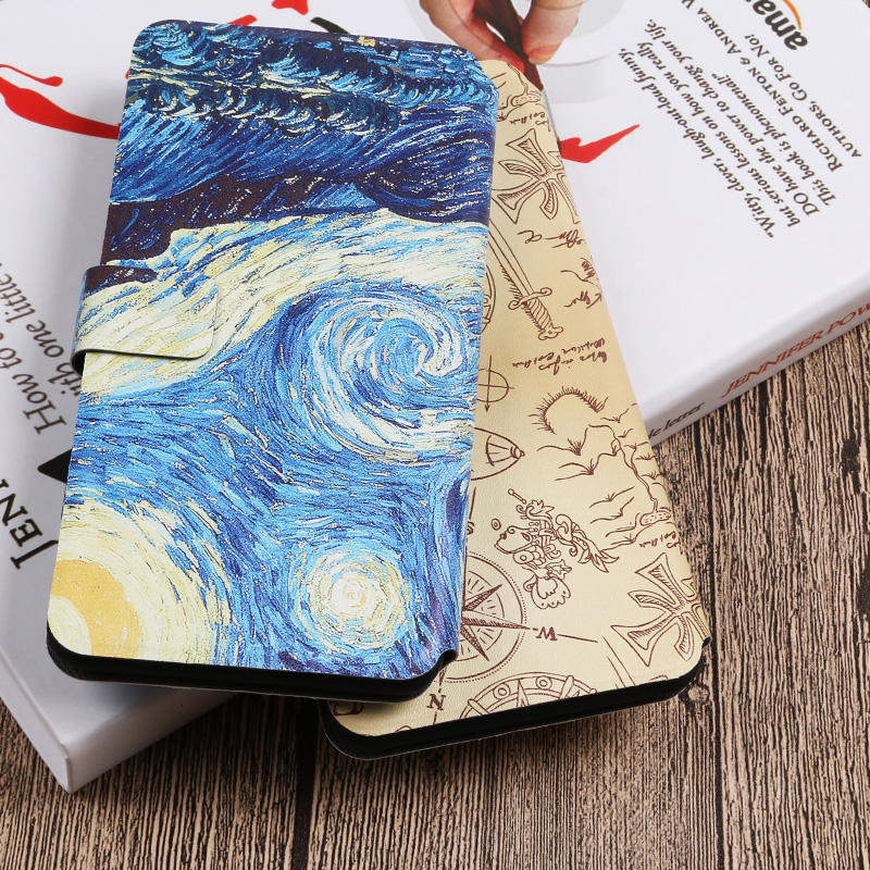 Painted Pattern Flip Wallet Cove For Samsung Galaxy A10 A30 A40 A50 M10 M20 M30 S7 S8 S9 S10 Plus S10e Protective Case