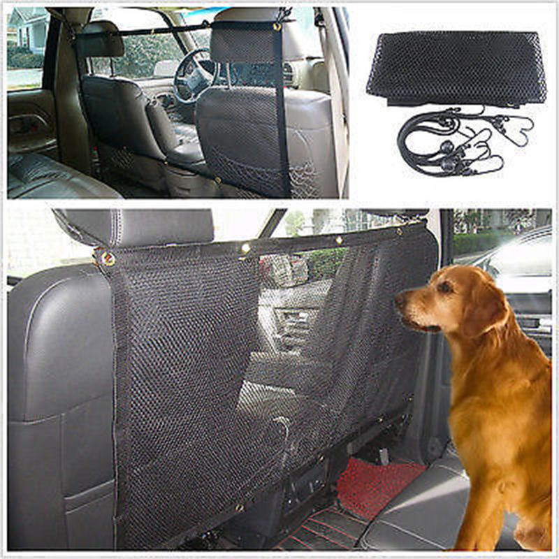 pet guard net car safety dog seat barrier mesh protector hatchback universal 115x62cm 45 x 24 4. Black Bedroom Furniture Sets. Home Design Ideas