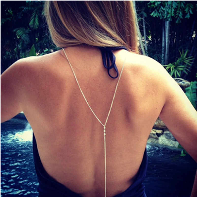 Beach Harness Necklace Womens Sexy Bikini Body Chain Multilayer Body Chain Women's Multilayer Bikini Body J