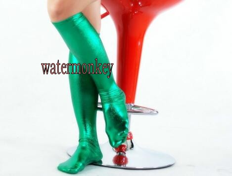 d8a36e071 Brand Adult Sexy Black red Wet Look Wetlook Shiny Metallic Faux Vinyl  Thighs short Stockings Socks-in Holidays Costumes from Novelty   Special  Use on ...