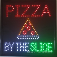 CHENXI Direct Selling Led Pizza By The Slice Store Business Shop Open Neon Signboard Graphics 19x19 Inch Indoor