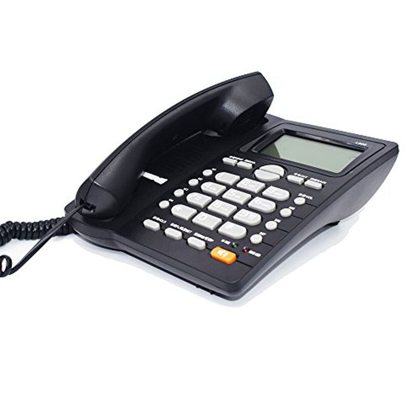 DTMF/FSK Landline Telephone Without Battery Dual Interface Fixed Phone Call ID Handsfree Hang on Wall For Home Office Hotel