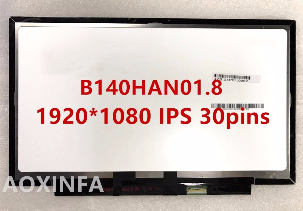 Free shipping B140HAN01.8 LP140WF6-SPG1 30pin 1920*1080 IPS For Lenovo X1 YOGA LCD screen FRU 00HN875 шины continental contivikingcontact 6 245 45 r18 100t xl