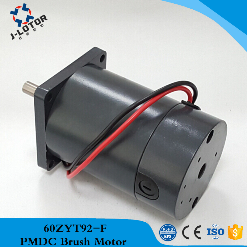 60ZYT92-F 12v 24v 50W 2000rpm ~ 4000rpm 60mm High torque Permanent Magnet Brush DC Electric Tubular Motor with duplex bearing js zyt 19 permanent magnet dc motor speed 1800 rpm high speed miniature single phase dc motor dc220v 200w