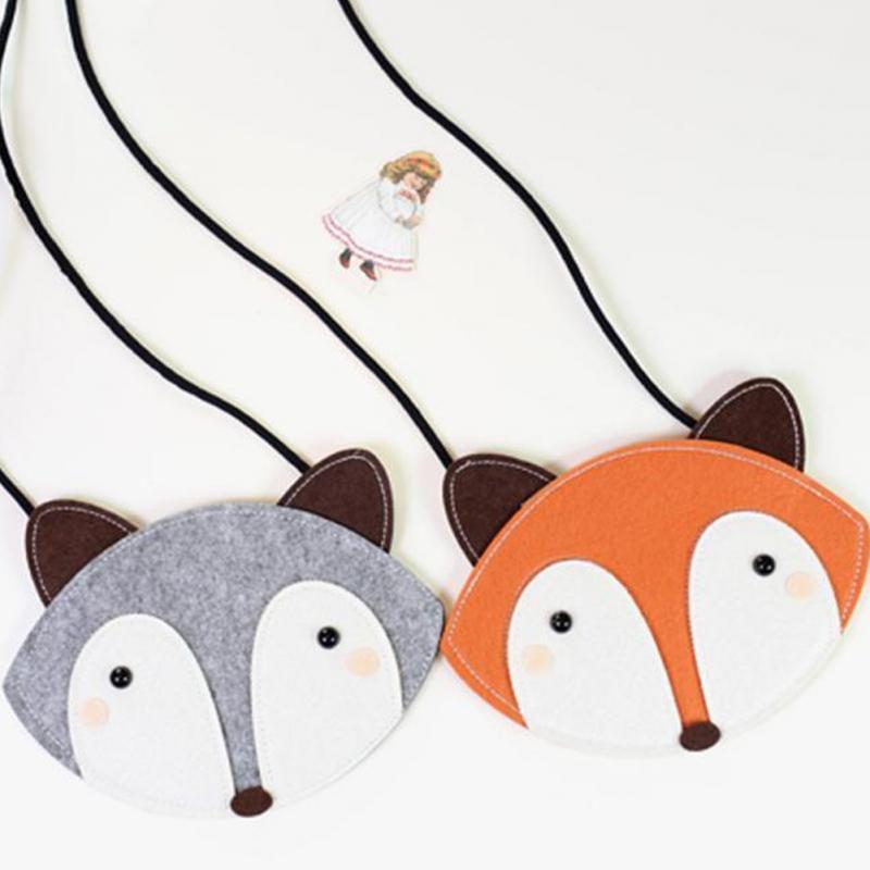 New Baby Girls Mini Messenger Bag Cute 3D Animal Fox Kids Small Coin Purses Children Handbags Kids Shoulder Mini Bags