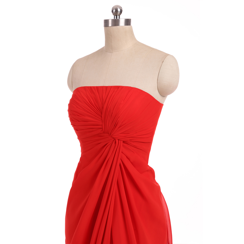 Red 2018 cheap bridesmaid dresses under 50 mermaid strapless floor red 2018 cheap bridesmaid dresses under 50 mermaid strapless floor length chiffon slit african long wedding party dresses in bridesmaid dresses from ombrellifo Choice Image