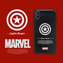 Marvel Hero Captain America Luxury Phone Case Soft Cover For iPhone 6 6s 7 8 Plus X XS XR XSMax shimmering
