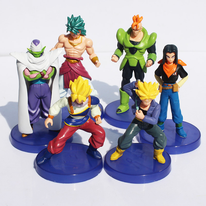 6Pcs/Set Dragon Ball Z Figures 11th Goku Super Saiyan Figure Chidren Toy Christmas Gift 9~12cm