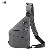 все цены на GUBINTU Fashion Men Sling Bag Casual Canvas Chest Bag Anti Theft Crossbody Bags High Quality Messenger Bags Travel Bags онлайн