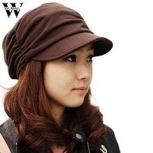 Потрясающая модная однотонная женская кепка в стиле милитари с плоским верхом, шапка для студентов, винтажная шляпа на зиму осень в морском стиле