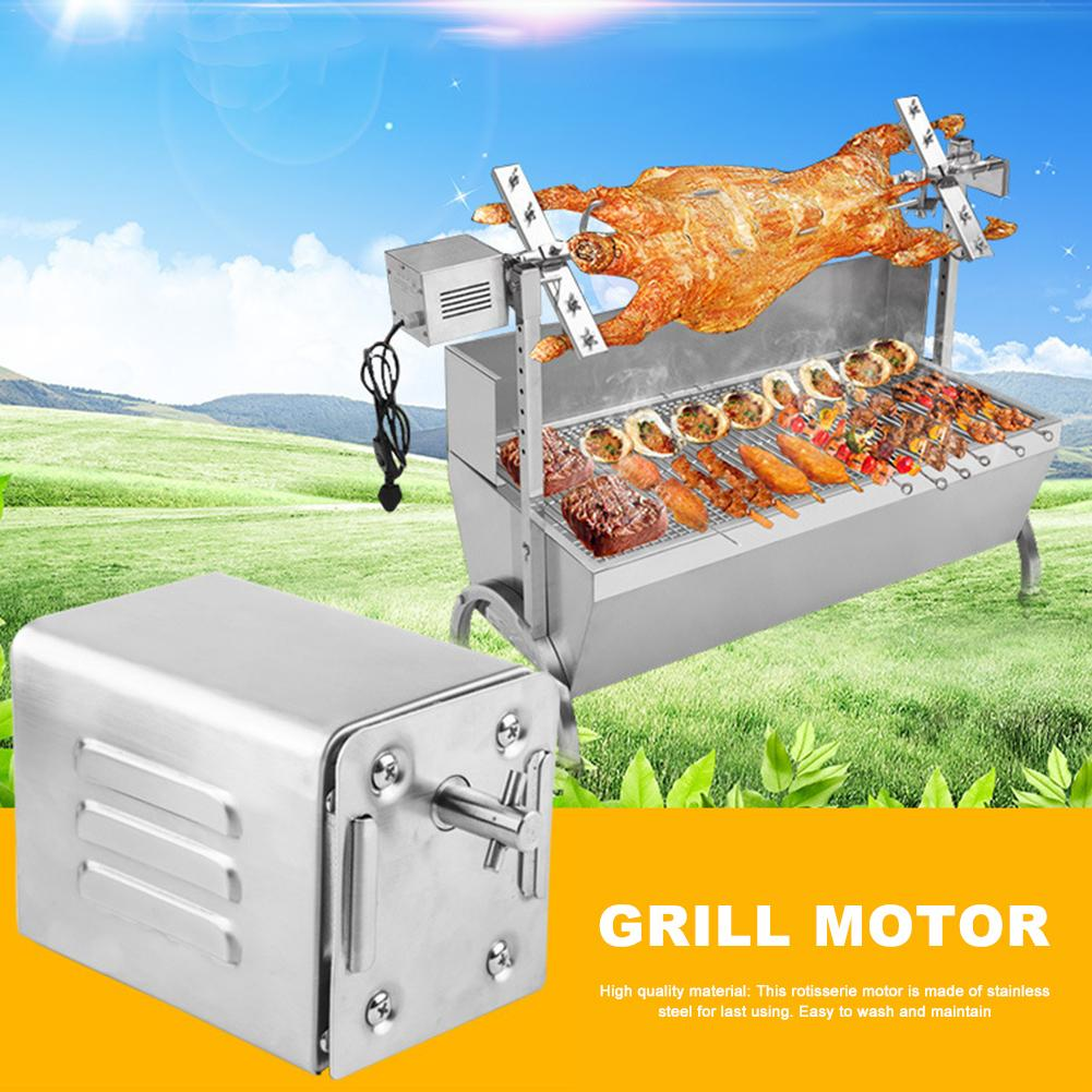 15W 70kgs Pig Lamb Goat Chicken Charcoal BBQ Grill Outdoors Roaster Spit Rotisseries Cooking Electric Motor Stainless Steel-in Other BBQ Tools from Home & Garden    1