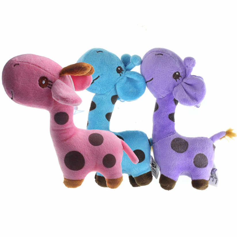 100% brand new and high quality Cute Giraffe Dear Soft Plush Toy Animal Dolls Baby Kid Birthday Party Gift gift AP20 4 colors pusheen plush cute soft animal toy giraffe plush doll birthday gift toys for children 18cm baby dolls free shipping