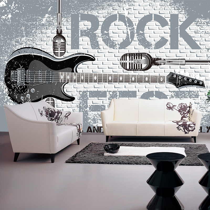 Custom Size Photo wallpaper European rock guitar murals TV background wall papers wallpaper murals 3d modern custom photo 3d ceiling murals wallpaper european mythological figure angelic painting 3d wall murals wallpaper for walls 3 d