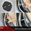 4 pçs/set cobertura da fechadura da porta Do Carro para Mazda CX-5 Mazda CX-7 MX-5 anti ferrugem fechadura Da Porta proteger à prova d' água fivela cobrir