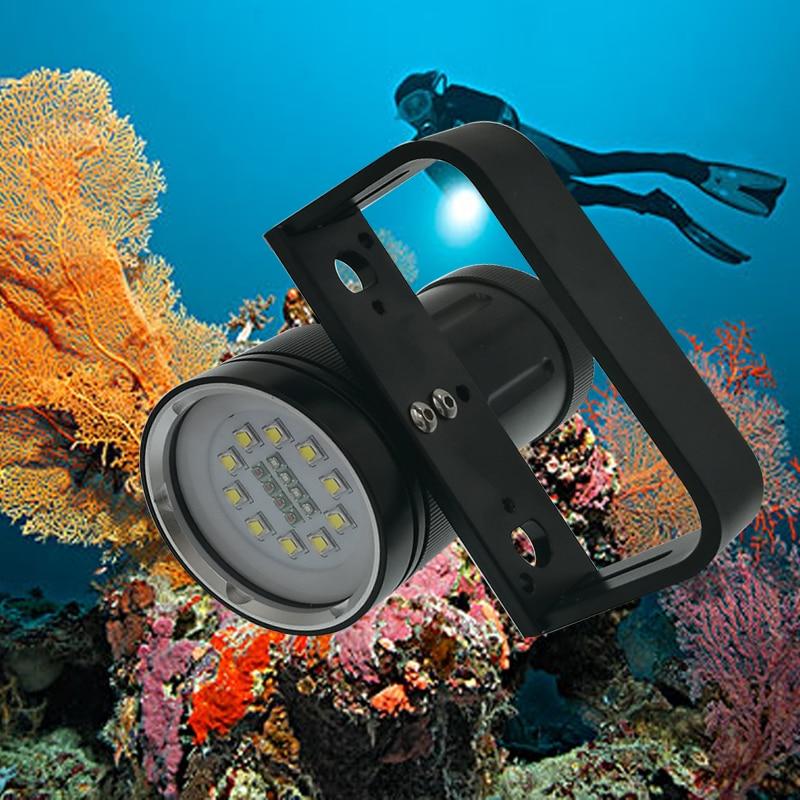 Super brightness 12000 lumens 10 X CREE XM-L2 Diving Flashlight Professional Diving linternas Waterproof Torch Red/Blue UV LED archon 34vr 2600lm 6 mode flashlight w 4 x cree xm l2 white 2 x xp e n3 red purple uv 1x32650