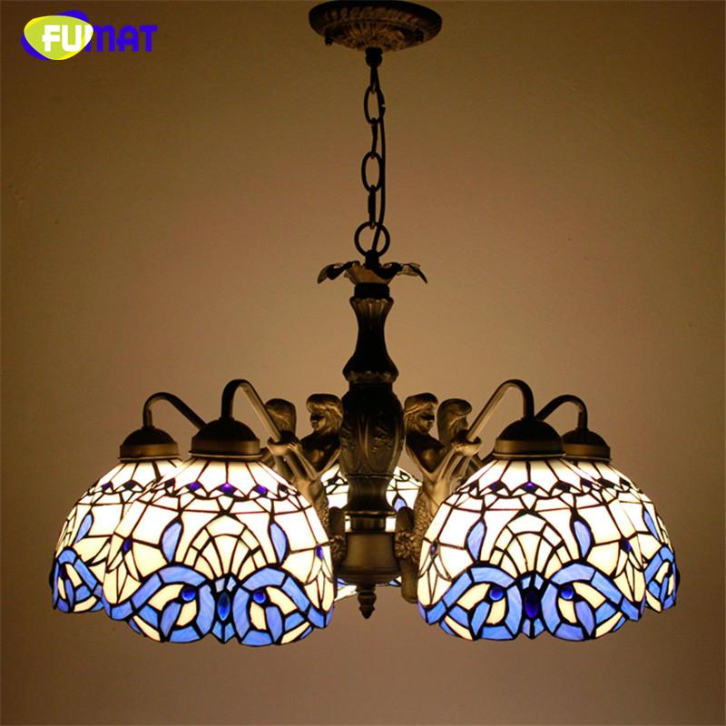 FUMAT Buntglas Leuchten Vintage Antike Pendelleuchte Kche Wohnzimmer Mermaind Krper Barock Led Schlafzimmer