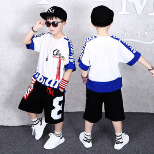 Image 5 - Boys Clothes Sports Suit Boy 2019 Summer Set Two piece Childrens Wear stitching suit 4 6 8 10 12 14 16 Years old Child clothes