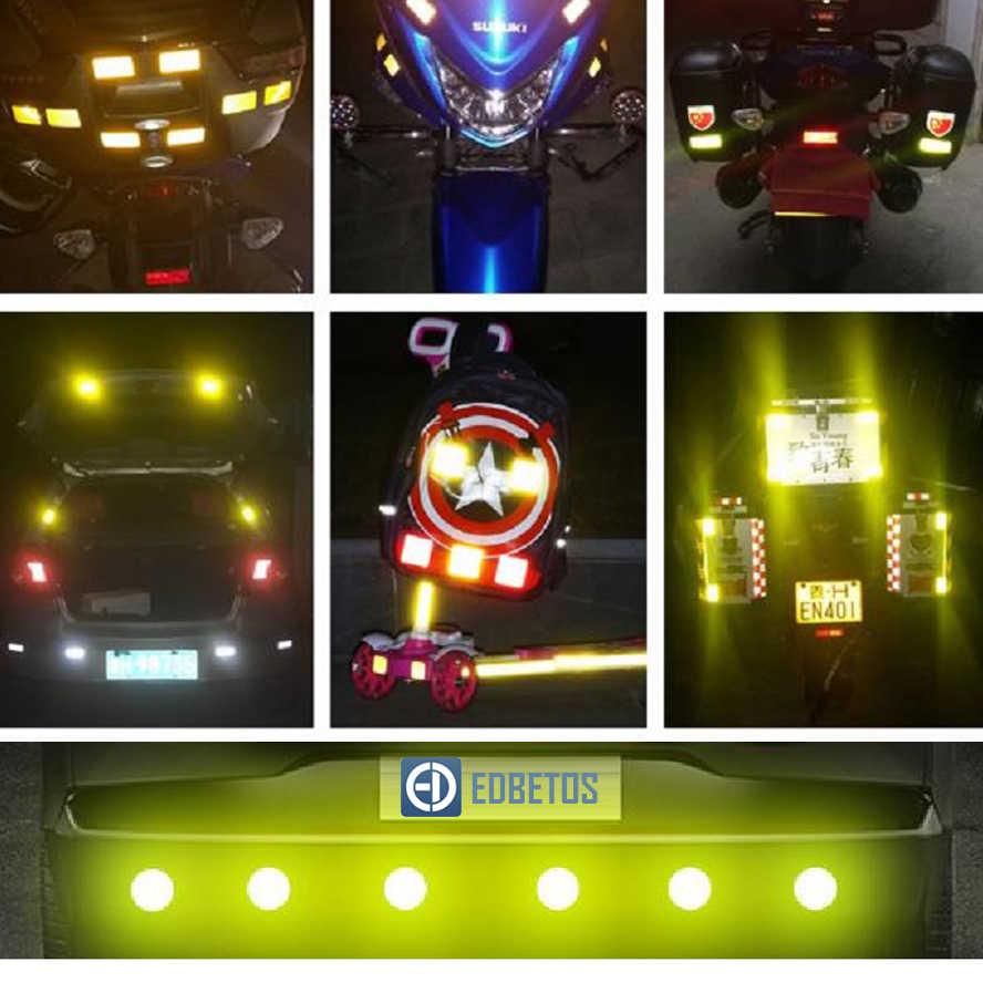 Mobil Stiker ROUND 3M Berlian Pita Reflektif Keselamatan Peringatan Tanda Stiker Melihat Sepeda Pegatinas Automovil Coche Araba Aksesuar
