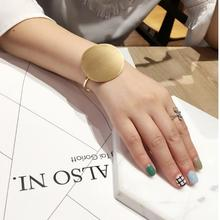Oly2u New Arrival Open Brushed Big Round Cuff Bangles for Wo