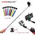 Auto-pólo palo selfie vara extensível handheld monopé com fio + adaptador de tripé para iphone samsung android para gopro camera esporte