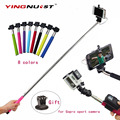 Self-Pole Extendable Handheld Monopod Wired Palo Selfie Stick + Tripod Adapter For iPhone Samsung Android for Gopro Sport Camera