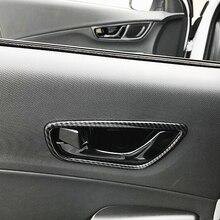 Для hyundai Kona Encino 2019 2018 ABS Матовый и углерода волокно автомобиля внутренняя дверь чаша протектор рамки крышка отделка стайлинга автомобилей