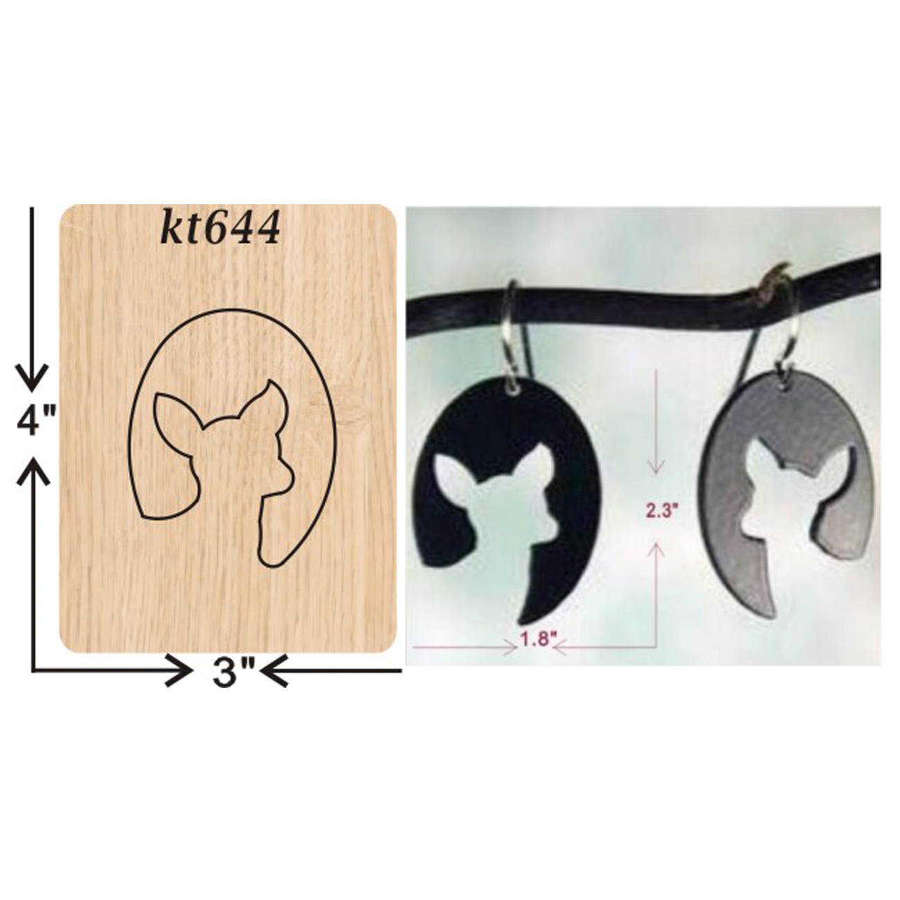 Puppy head earrings cutting dies 2019 new die cut wooden dies Suitable for common die cutting machines on the market in Cutting Dies from Home Garden