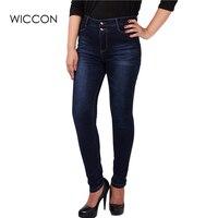Big Plus Size Women Blue And Black Color Jeans L 5XL Denim Pants Winter Autumn Wear