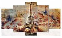 Full Square Drill Resin Diamond Embroidery Flowers 5d Diy Diamond Painting Cross Stitch Eiffel Tower Icon