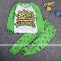 2016 New Kid Baby Toddler Boy Pajamas Suits Long Sleeve Cartoon Turtle T-Shirt+Pants Set Sleepwear Pjs Pyjama 1-7Y