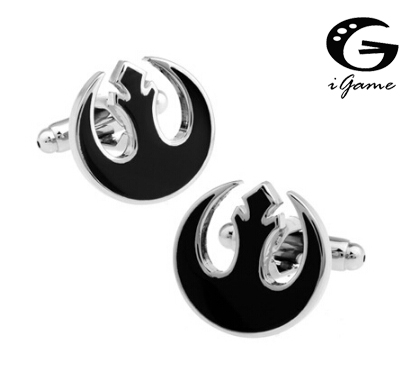 iGame French Cufflinks Quality Brass Material Black