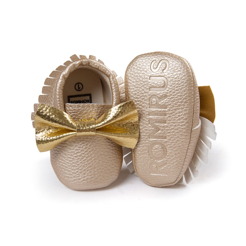 golden color toddler girls boys butterfly knot sneakers shoes baby first walkers infant bebe newborn shoes