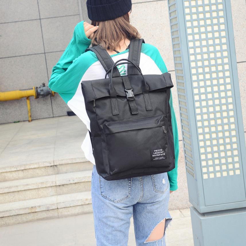 Fishsunday Outdoor Wandern Tasche Frauen Reine Farbe Nlyon Softback Schulter Tasche Studenten Tasche Rucksack 0801
