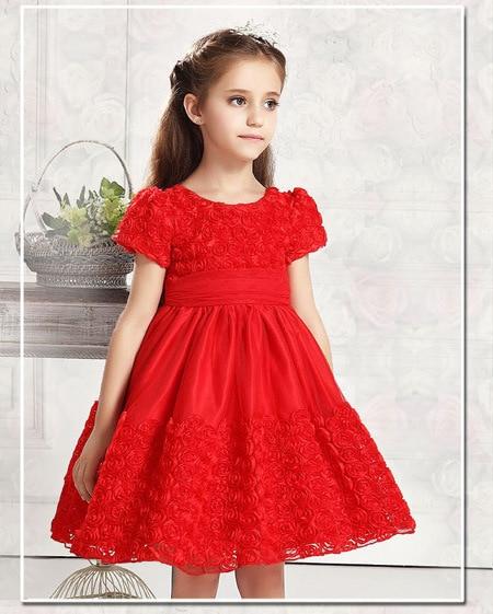 Verão bonito Meninas Rose Vestido tutu lace princesa vestido de noiva de tule vestido de festa vestido de baile ruched vestido da dama de honra para as crianças do bebê menina
