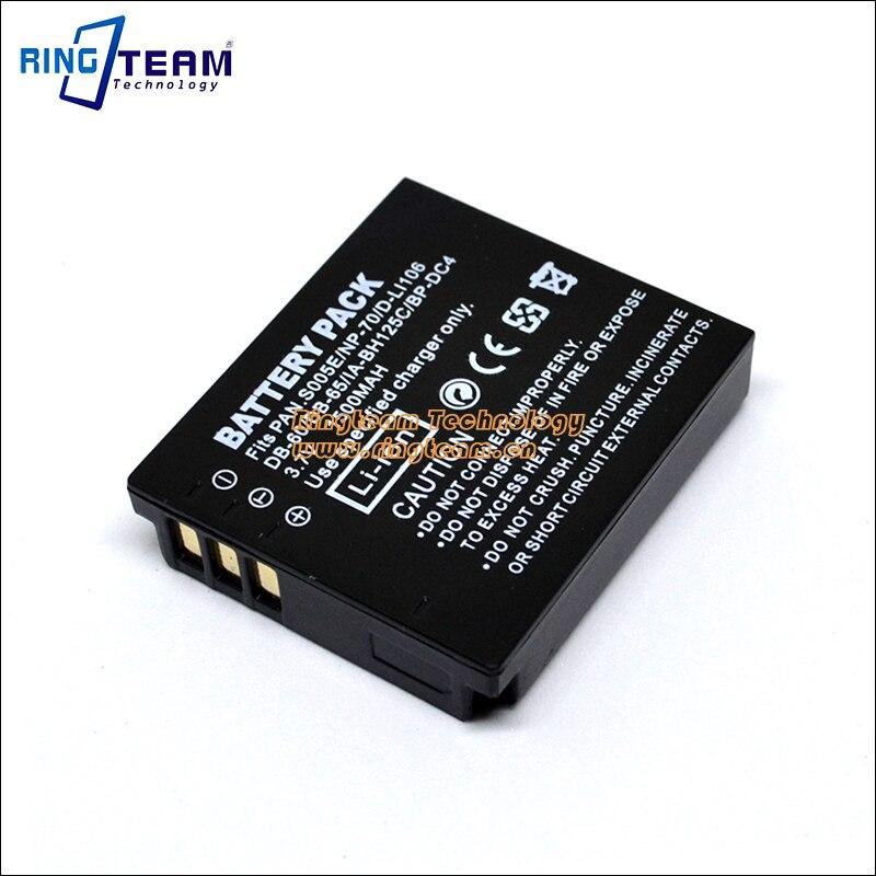 CGA-S005 S005E Batterie pour Panasonic DMW-BCC12 Caméra DMC LX1 LX2 LX3 FX01 FX07 FX3 FX8 FX9 FX10 FX12 FX50 FX100 FX150 FX8A FX01