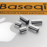 5pcs Set New Arrived Aluminium Dust Plugs Quality Dustproof Plug For MacBook Pro Retina 13 15
