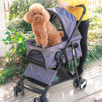 Hot Pet Stroller Teddy Puppy Out Trolleys Small Cat Foldable Stroller Lightweight Dog Supplies Top Selling Product In 2019