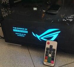لتقوم بها بنفسك بطاقة جرافيكس لوحة خلفية غطاء خفيف الحجم 265x100x7 مللي متر 4Pin استخدام ل GTX 1060/1070/1080/TITAN RX580 RGB/PSU غطاء كفن