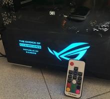 DIY Graphics Card Backplane Light Cover ROG MSI NVIDIA GPU Video 4 Pin RGB GTX 970/980/1070/1080/TITAN X Cover Cooling System
