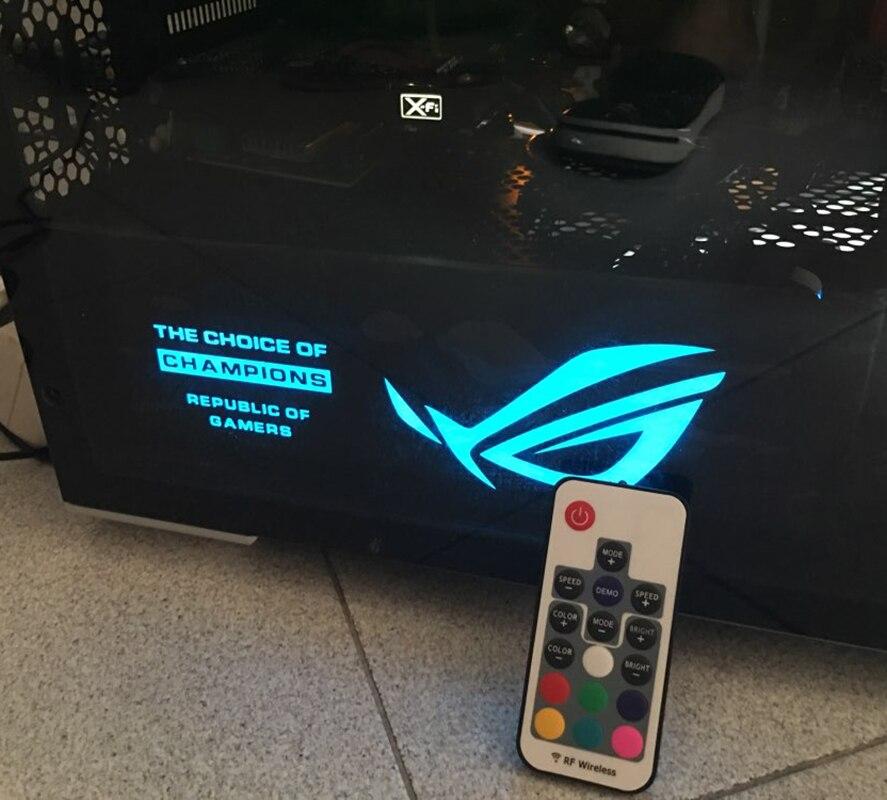 DIY tarjeta gráfica Backplane cubierta de luz tamaño 265x100x7mm 4Pin uso para GTX 1060/1070 /1080/TITAN RX580/RGB/PSU CUBIERTA Cubierta