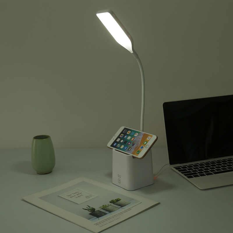 28LED parlaklık 360 derece Foldabing USB şarj edilebilir dokunmatik h sensörü led masa lambası 3 seviye kısılabilir okuma çalışma masası ışık