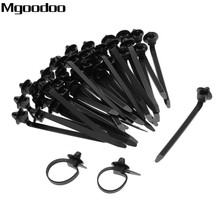 Mgoodoo Q26 50PCS Car Nylon Tie Wrap Cable Fixed Fasteners Clips Black Car Cable Fastening Zip Strap for All cars 92mmx5mm цена и фото