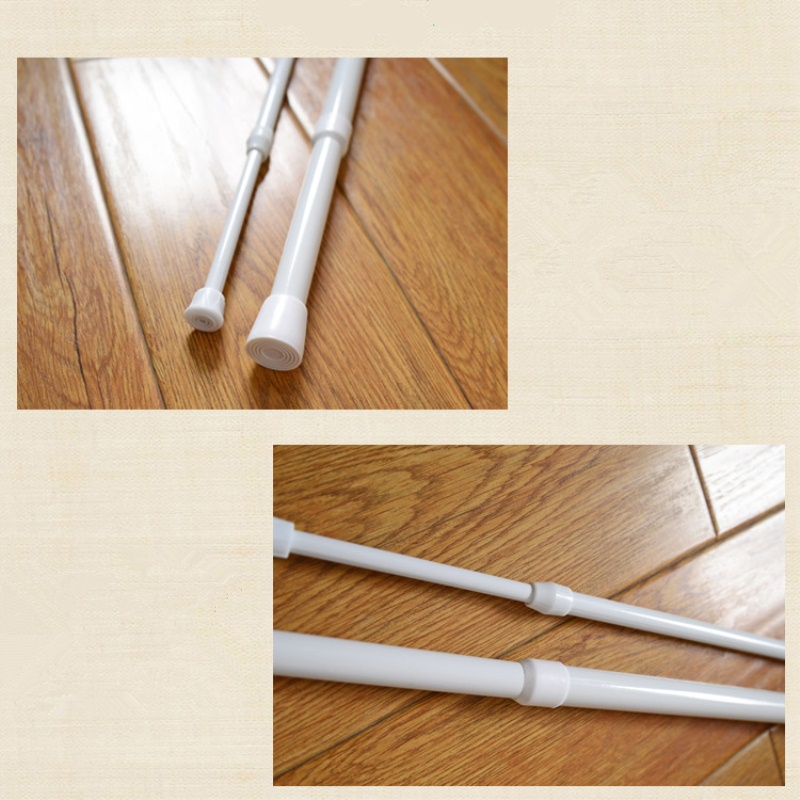 1 PCS Spring Loaded Extending Shower Curtain Pole Telescopic Net ...